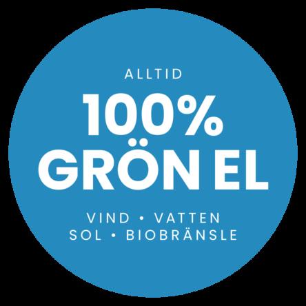 Symbol: Alltid 100% grön el hos Dalakraft
