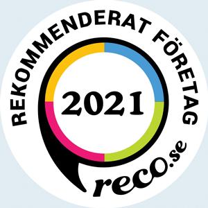 Badge som visar att Dalakraft är ett rekommenderat företag 2021