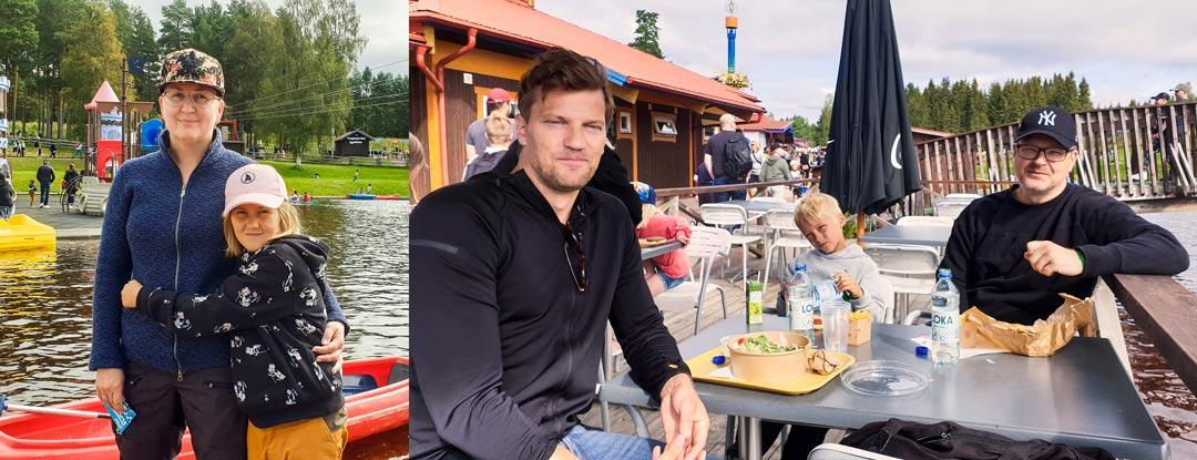 Besökare på Leksand Sommarland